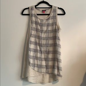 Vince Comuto sheer patterned tank